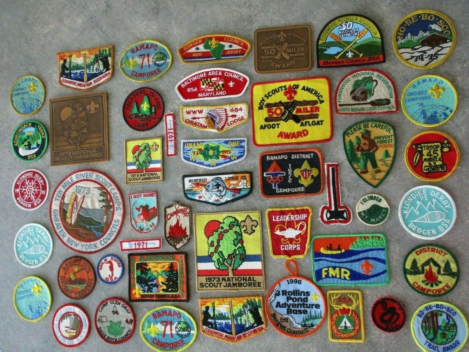 Vintage BSA 1970's Boy Scout Patch Lot of 47