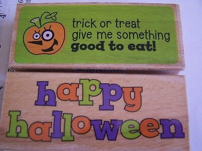 WM RUBBER STAMPS WHIMSY HAPPY HALLOWEEN GIVE SOMETHING GOOD TO EAT TRICK TREAT - Halloween Treats To Eat