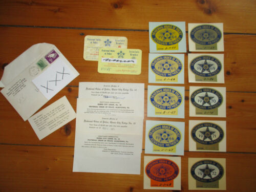 1960s-70s F.O.P. Fraternal Order of Police new Windshield Stickers 1 of Kind set