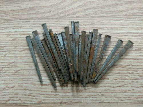 """Vintage 25 Square Cut  2""""- 2 1/2"""" Inch Straight Nails w/Square Heads"""