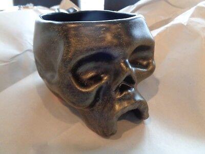 Williams Sonoma Skeleton Skull mugs set 4 Halloween New