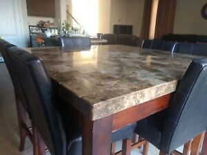 Real Marble Kitchen Table