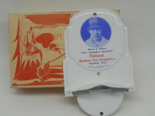 NOS Vintage NORTHERN  NEW HAMPSHIRES Advertising Metal TOWEL HOLDER Chatfield MN