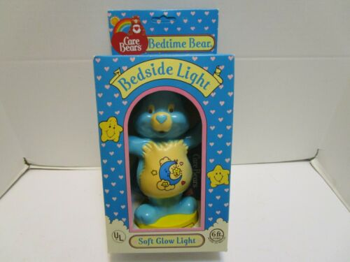 VINTAGE CARE BEARS BEDTIME BEAR BEDSIDE LAMP ***NEW IN BOX***