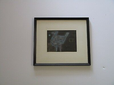 EVELYN SHEEHAN DRAWING ABSTRACT MODERNISM BIRD EXPRESSIONISM 1970'S LISTED ART