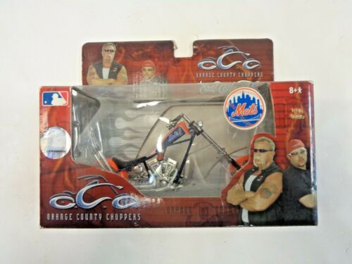ORANGE COUNTY CHOPPERS ERTL MLB NY METS, MOTORCYCLE MIB, SCALE 1:18 NRFB