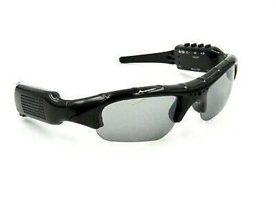 Sunglasses with Spy / Sport Camera, Micro SD Slot, Earbuds. Black / Gray - (Sunglasses With Camcorder)