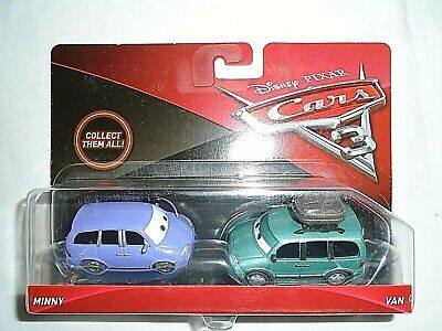 "Mattel Disney Pixar Cars 3 Minny & Van Die-Cast Cars ""NEW"""
