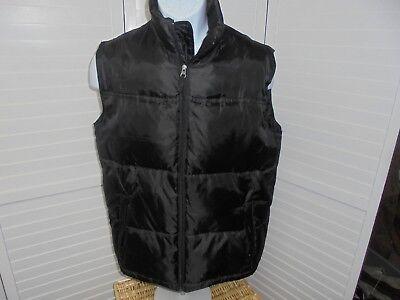 Steve & Barrys Black Double Down Full Zip Puffer Vest Jacket Size XL Double Down Zip