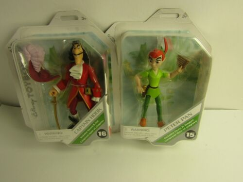 Lot Of 2 Disney Toybox PETER PAN & CAPTAIN HOOK Collectible Action Figures