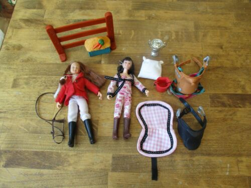 Breyer Trad. Horse Accessories Mixed Lot. Stable Blanket, Saddles, Dolls, Misc.