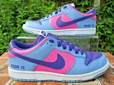 NIKE DUNK LOW PREMIUM ID DIEGO TRAINERS SIZE 9 BLUE / PURPLE / PINK LEATHER