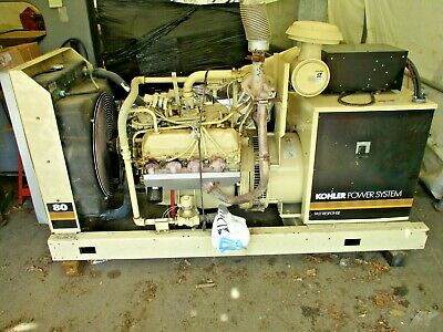 Kohler 80rz72 80kw 100 Kva 3p4w 277480v Ford Natural Gas Standby Generator