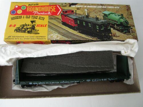 Roundhouse HO British Columbia BC Rail 869378 Bulkhead Flat Car