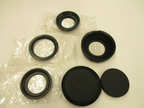Sony VCL-ES06 X0.6 wide angle lens with 37 and 52mm adapter rings.