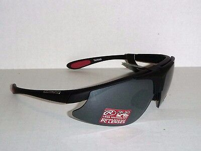 RAWLINGS FLIP up SUNGLASSES BLACK RED ADULT SPORT WRAP BASEBALL SOFTBALL 4-3592