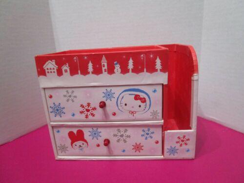 Sanrio Hello Kitty Winter Scene Desk Organizer Jewelry Box 2009 HTF