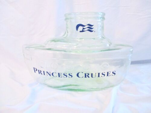 PRINCESS CRUISES GREEN RECYCLED GLASS SHIP BOAT OCEANLINER BOTTLE DECANTER ITALY