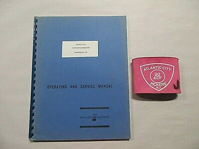 Hewlett Packard Model 3310a Function Generator Operating And Service Manual