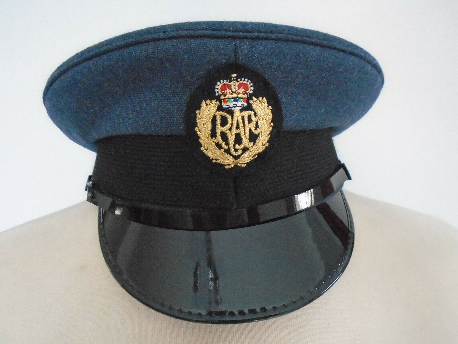 RAF MANS PEAKED CAP WITH BADGE SIZE  57CM GENUINE RAF ISSUE