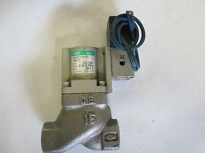 New Ckd Cvse2-15a-05-02c-1 Solenoid Valve For Coolant 12npt 100110v Coil
