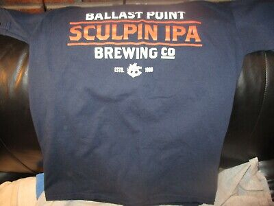 07998fe7 Blue BALLAST POINT Brewing Co. Sculpin IPA T Shirt Small 100% Cotton Spot