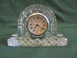 Small Vintage Waterford Crystal Desk-Top Mantel Clock