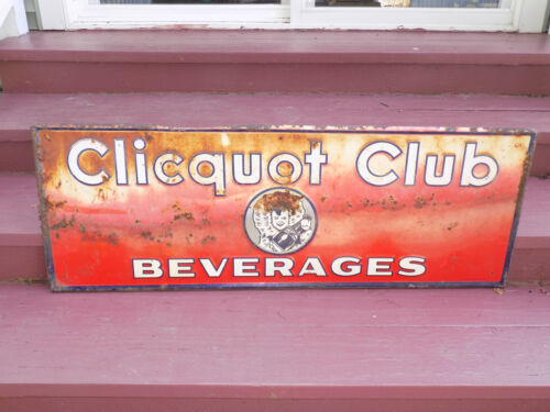 Clicquot Club Beverages Metal Sign
