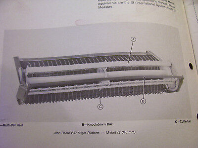 VINTAGE JOHN DEERE OPERATORS MANUAL- 230 AUGER PLATFORM & 30-65 HAY CONDITIONER