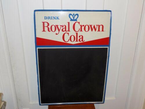 Vintage Drink Royal Crown Cola Metal Chalkboard Embossed Sign