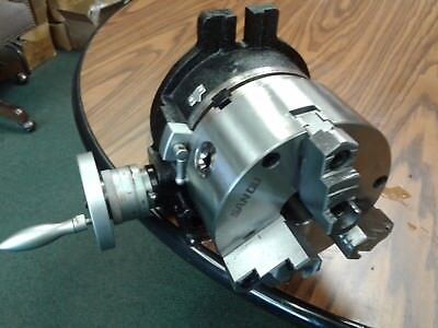 6 Horizontal Vertical Rotary Table W. 6 3-jaw Chuck Front Mounttsl6-3-slot