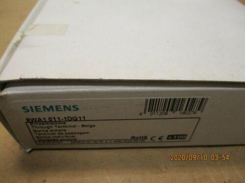 NEW SIEMENS 8WA1011-1DG11 TERMINAL BLOCK, BEIGE, 4MM, LOT OF 100 PC