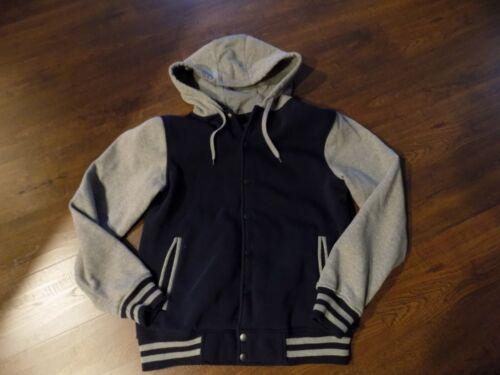 Boys Hooded Varsity jacket. size Large
