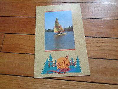 Cass Lake Lodge Brochure Minnesota 1993