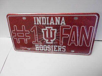 (Indiana Hoosiers #1 Fan Metal License Plate.    #571)
