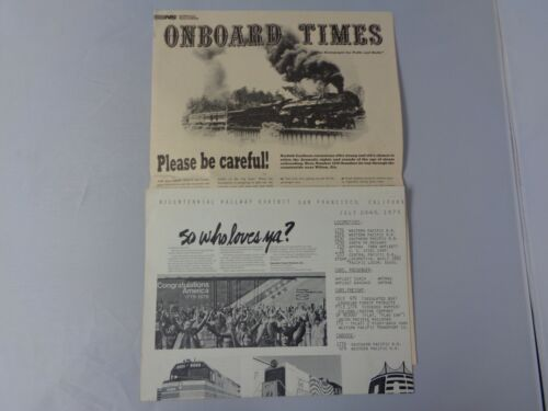 Lot of 2 vintage Railroad newspapers 1976 Bicentennial and Onboard Times Norfolk