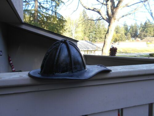 Cairns Firemen Leather Fire Fighters Helmet, Good Used Condition