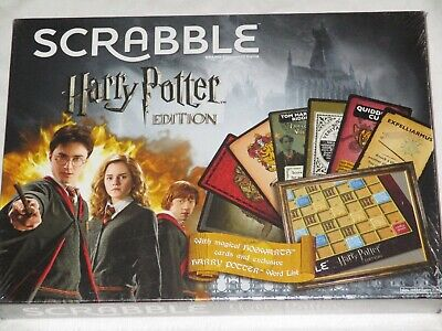 New Sealed Harry Potter Edition Scrabble Deluxe Crossword Game Mattel 10 and Up