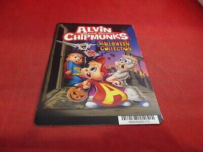 Alvin and the Chipmunks Halloween Blockbuster Store Promo Display Card ONLY