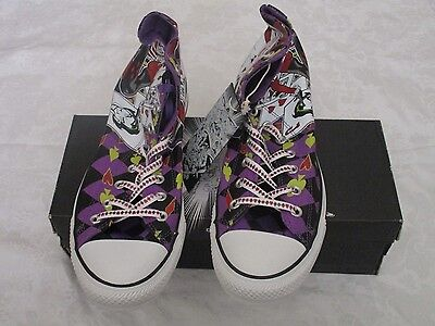 Converse Chuck Taylor High Top Purple Harley Quinn Size 10M 12W Sneakers Joker