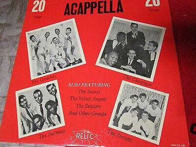 Best Of Acapella    Relic Records   Rare  Doo Wop Record Records 33 1 2 Lp 101