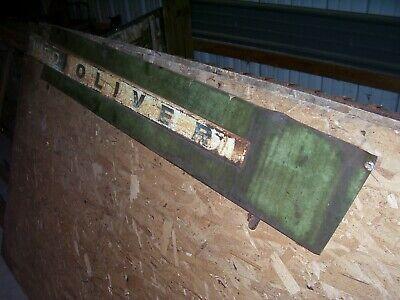 Vintage Oliver 1850 Gas Tractor -side Panel Emblem -rh- 1969