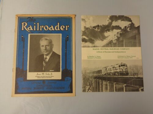 Lot of 2 vintage Railroad news 1970 Railroader Benefits and 1976 Maine Central