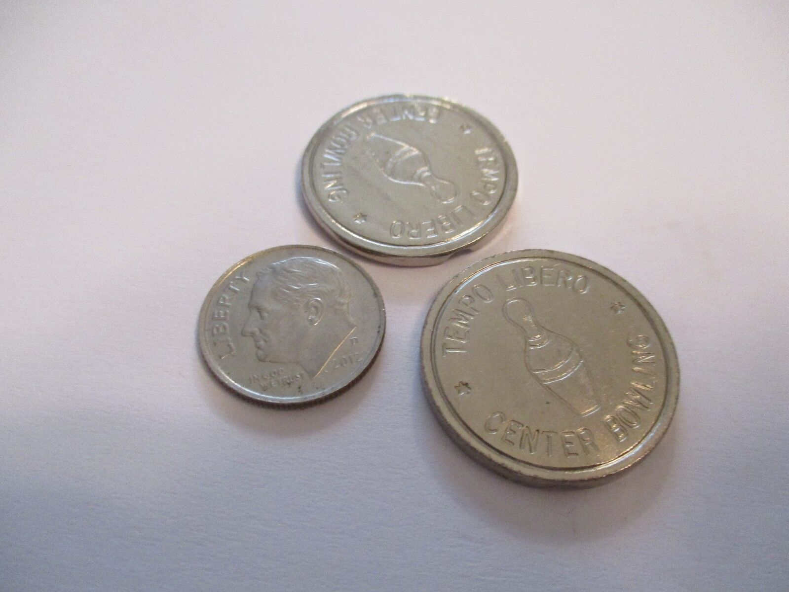 Bowling Token Coin Set Of 2 Exonumia Collectibles 717