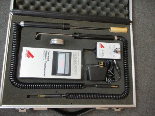 BARNES Precision Platinum Thermometer 33-100 w/ Probes & Calibrator 808-3001