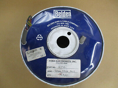 22 Awg Solid Wire (25FT. 25CONDUCTOR 22AWG BELDEN SOLID WIRE COMMUNICATIONS CABLE)
