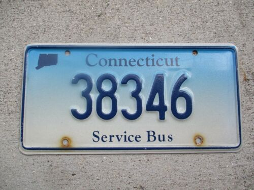 Connecticut Service Bus license plate  #  38346