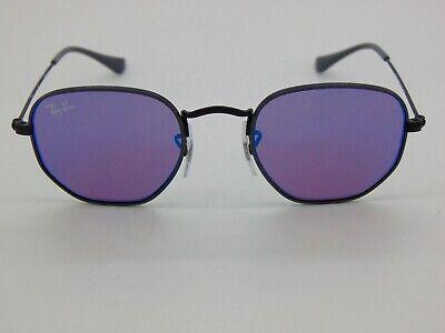Ray Ban Jr. Hexagonal RJ 9541SN 261/7V Black/Blue Mirror Kids 44mm Sunglasses