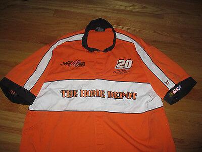 b0d4bad66 TONY STEWART - JOE GIBBS RACING TEAM Home Depot Embroidered (LARGE) Shirt