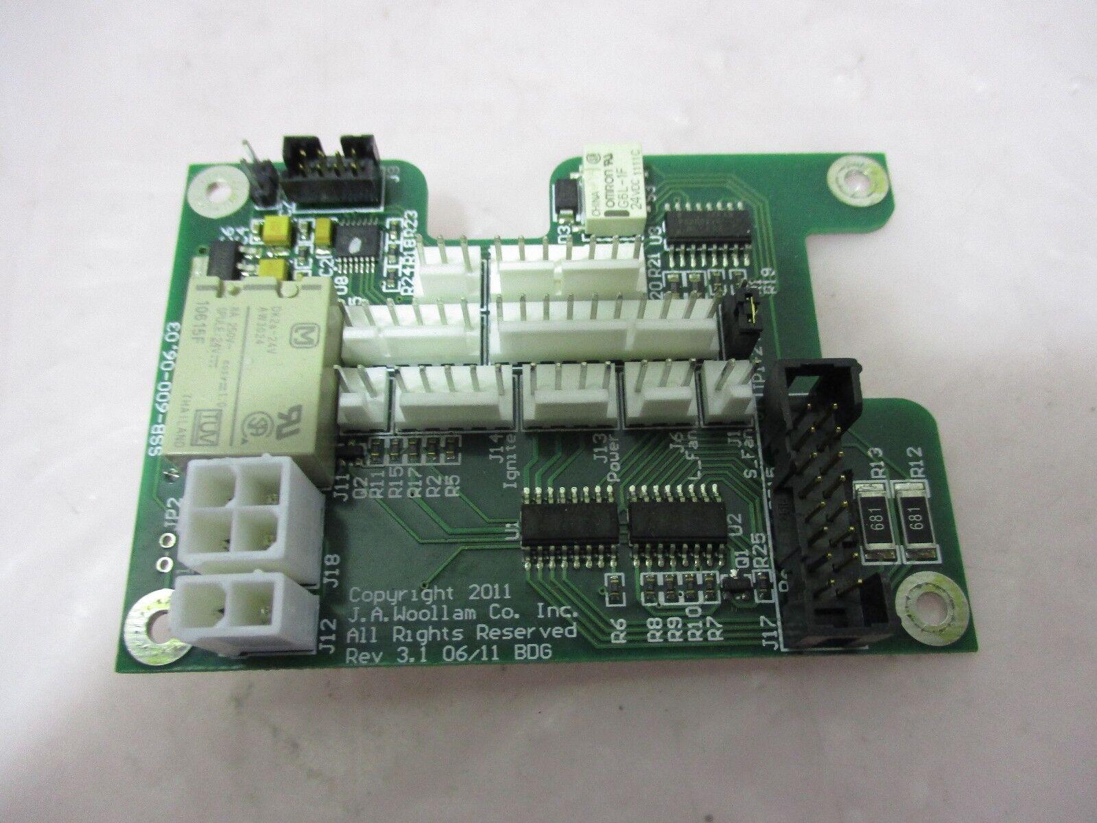 J.A. Woollam SSB-600-06.03 PCB Board, 420449